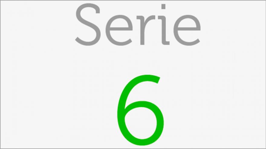 Logo de la Serie 6 de los planos de transporte público en la Comunidad de Madrid
