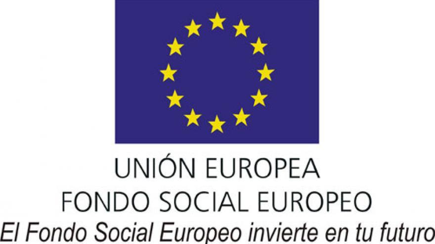 """Logotipo del Fondo Social Europeo con el lema """"El Fondo Social Europeo invierte en tu futuro""""."""