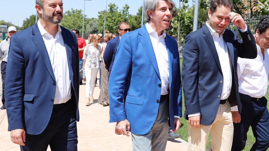Ángel Garrido y Pedro Rollán visitan el nuevo Parque Progreso
