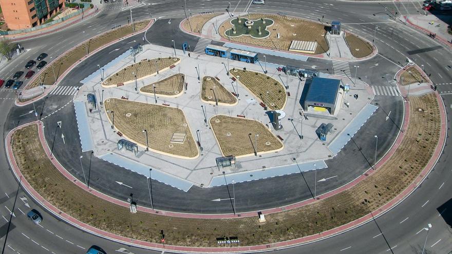Vista aérea de la reurbanización de la estación Alsacia