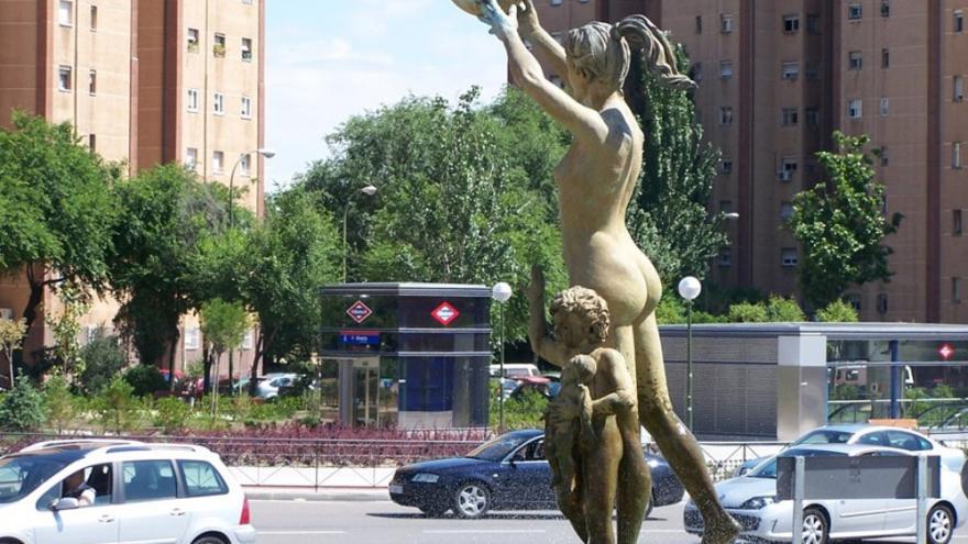 Detalle de la Fuente de la Plaza de Alsacia
