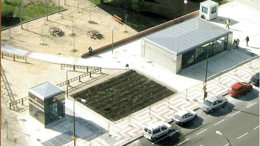 Vista aérea templete de acceso y ascensor Avenida de Guadalajara