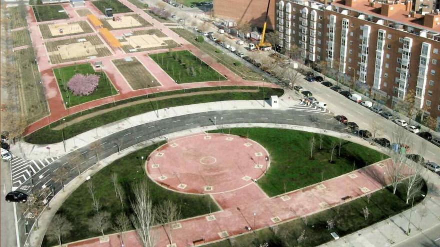Situación final de la reurbanización de Las Rosas