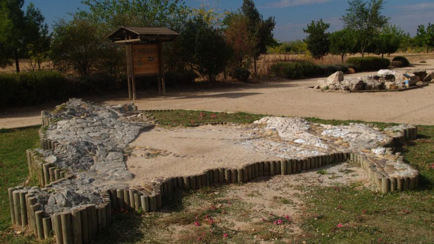 El Jardín de las rocas. Área temática del Centro de Educación ambiental Polvoranca.