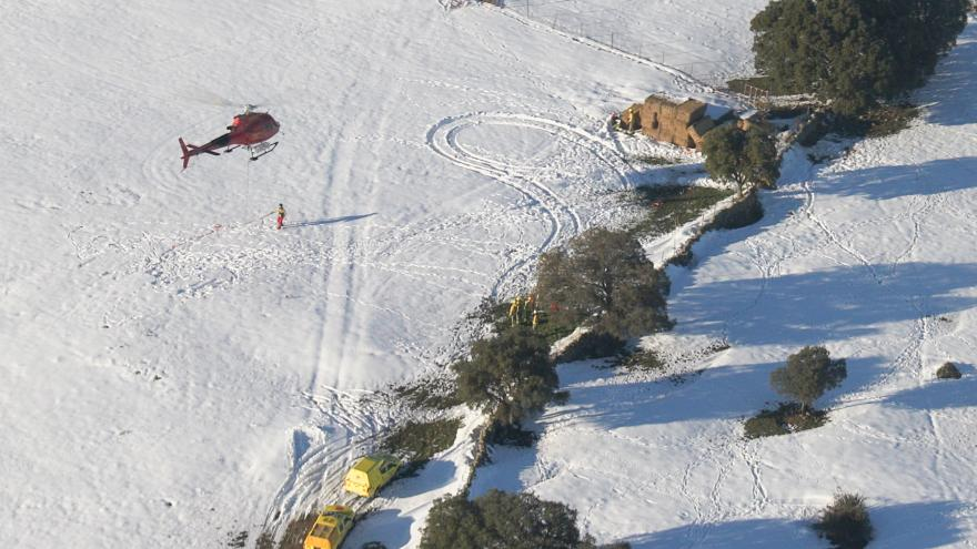 operación por vía aérea para alimentar ganado
