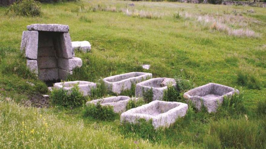Fuente y pilas de piedra del Navazo