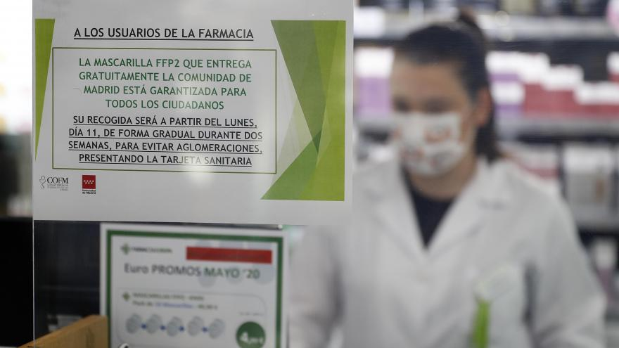 Cartel en una farmacia