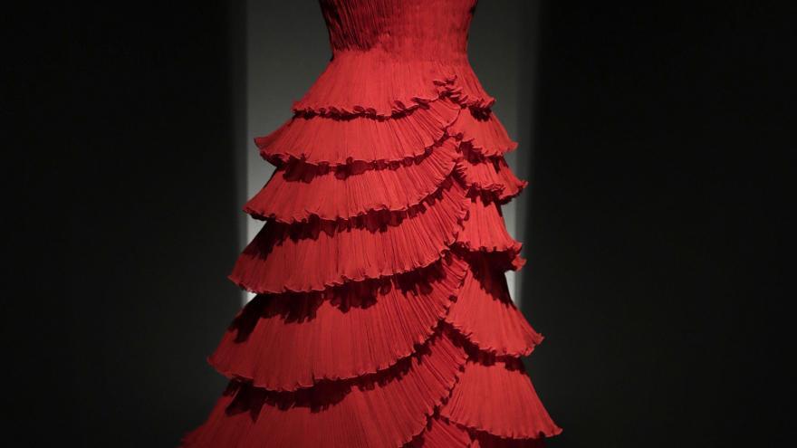 Vestido de Pertegaz expuesto