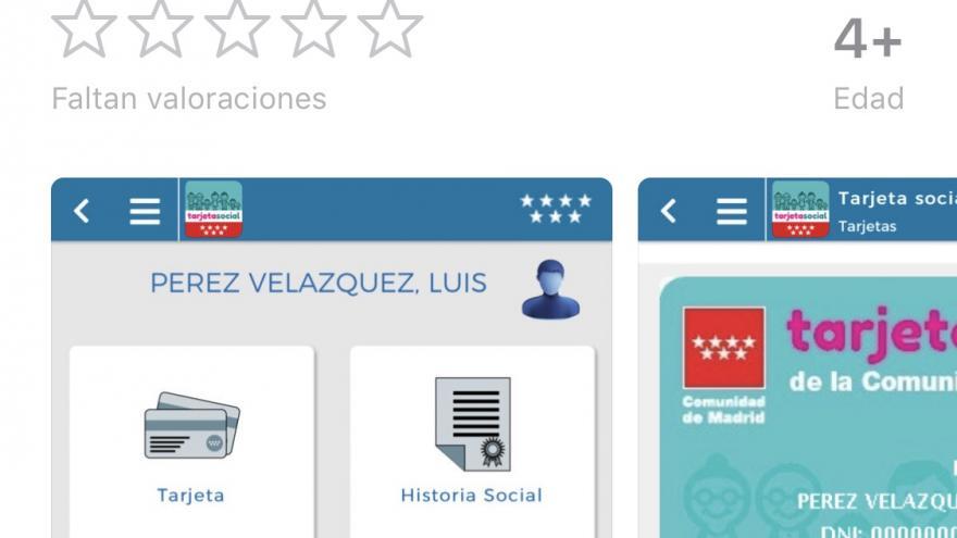 Tarjeta Social Comunidad de Madrid