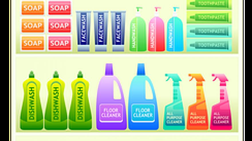 Productos de limpieza dibujo