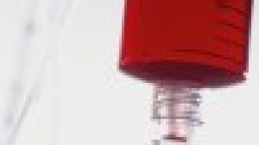 Envase conteniendo plasma sanguíneo