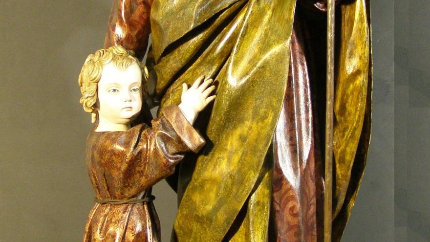 Escultura San José con el Niño de Pedro de Mena