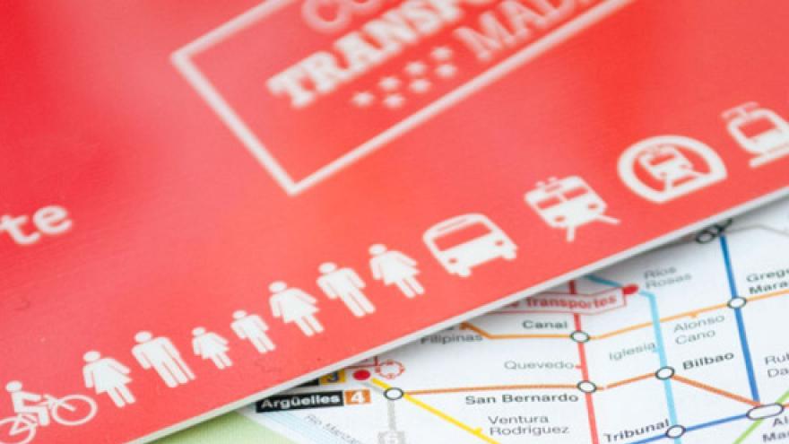 Imagen de Tarjeta Transporte Público sobre un plano