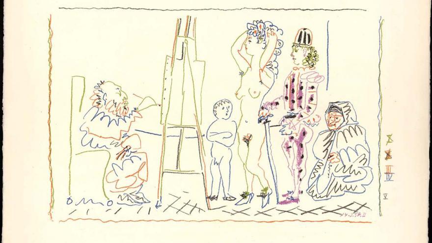 Pablo Ruiz Picasso. El taller del viejo pintor, 1962. Fundación Picasso. Museo Casa Natal