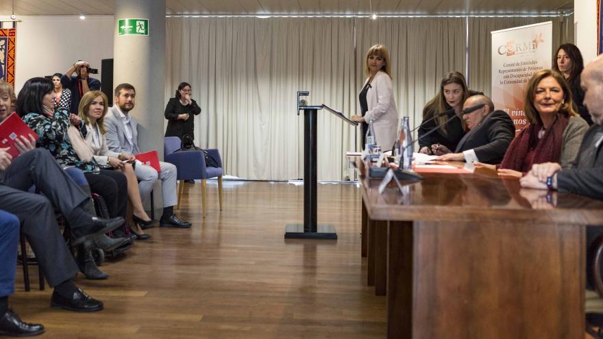 Miriam Rabaneda en el XX Aniversario de CERMI