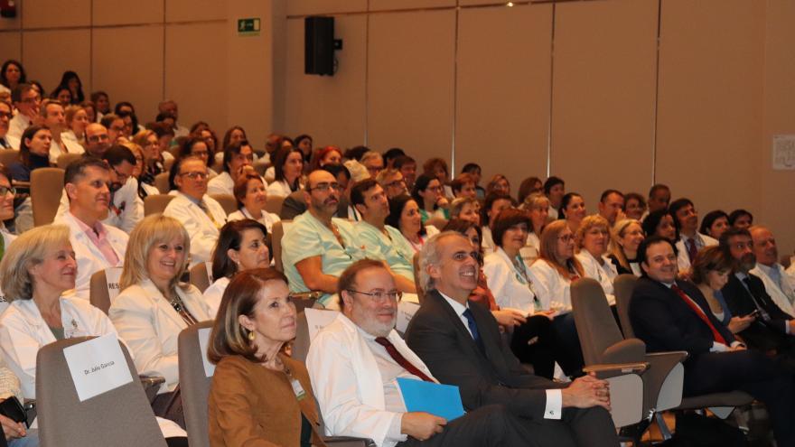 El consejero de Sanidad, Enrique Ruiz Escudero, en el acto de presentación de este plan