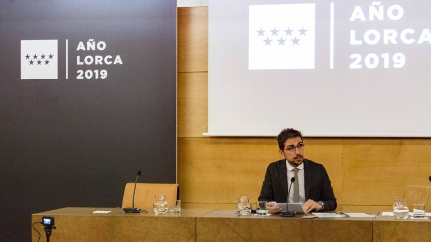 Jaime de los Santos en la conferencia 'Madrid en las cartas de Federico'