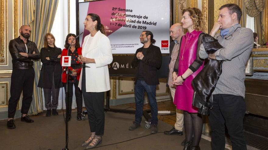 Jaime de los Santos en la presentación de la XXI Semana del Cortometraje de la Comunidad de Madrid en la Casa de América