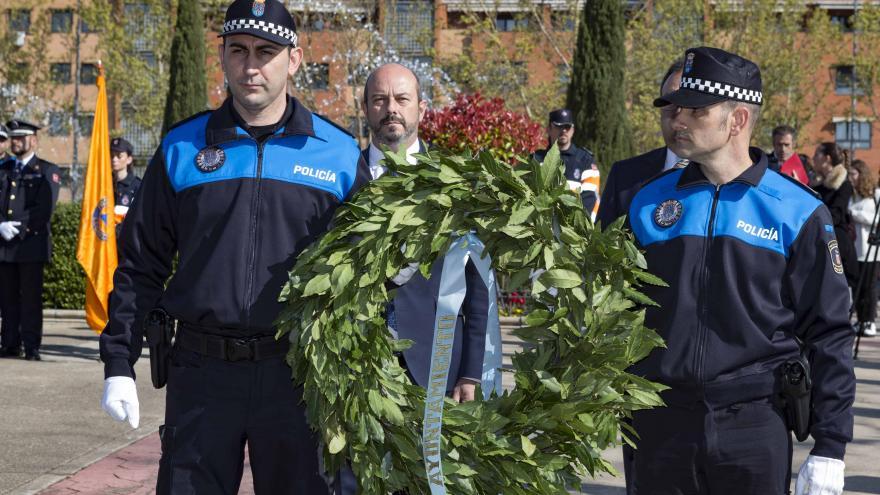 Pedro Rollán en el homenaje en recuerdo de las víctimas de los atentados de Atocha del 11 de marzo