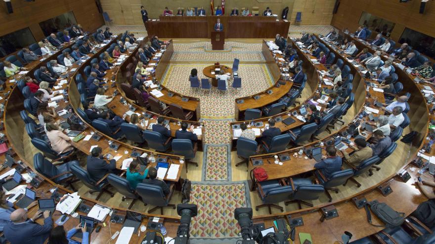 Pleno de la Asamblea de Madrid durante el Debate del Estado de la Región 2018
