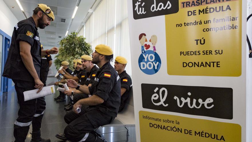 Hasta la fecha, 117 efectivos de la UME se han registrado como donantes de médula