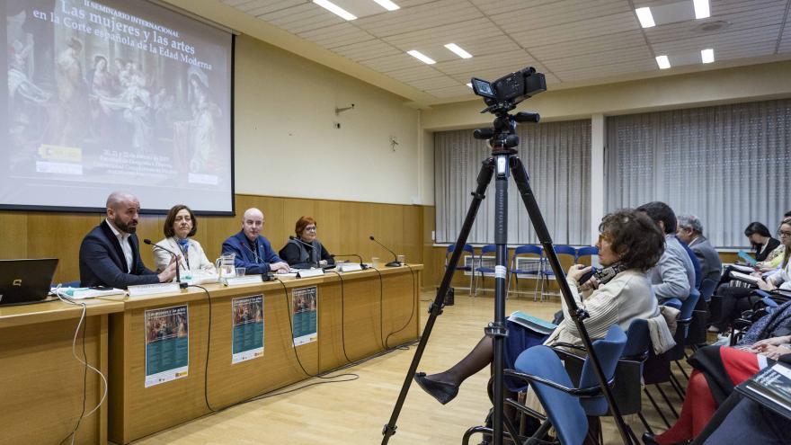 Jaime de los Santos en el II Seminario Internacional 'Las Mujeres y las Artes en la Corte española de la Edad Moderna'