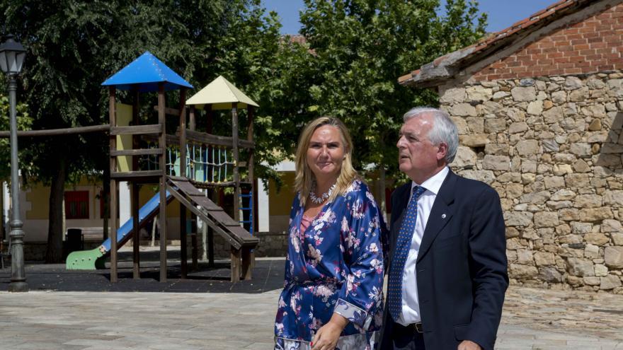Rosalia Gonzalo durante la visita