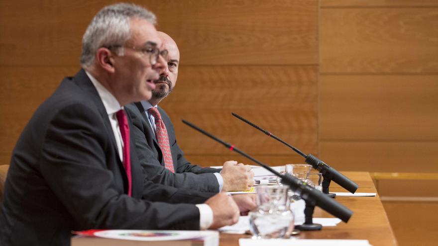 Carlos Izquierdo y Pedro Rollán