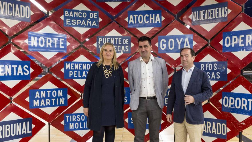La consejera de Transportes, Vivienda e Infraestructuras, Rosalía Gonzalo, asiste a la presentación de los certámenes Almagro off y Barroco Infantil en la estación de Chamartín