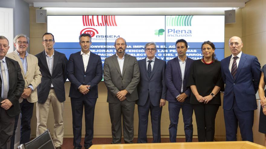 Rollán firma un convenio de colaboración con Plena Inclusión Madrid, federación que representa a un centenar de asociaciones