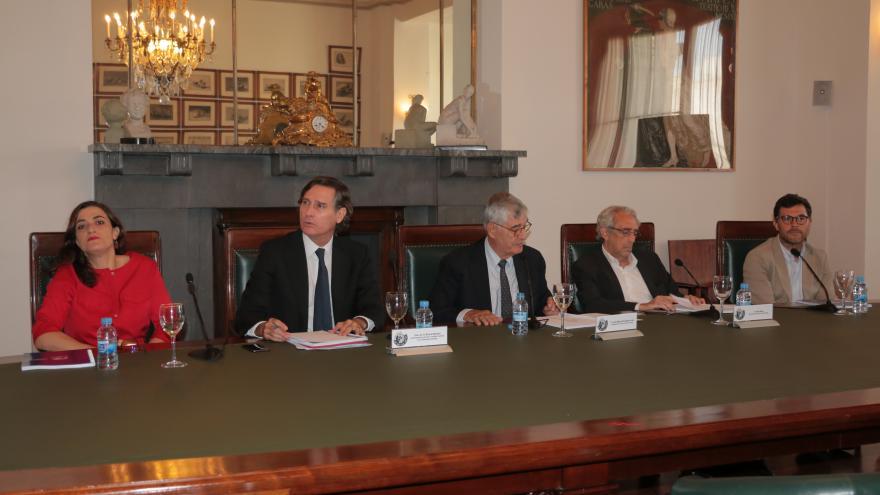El viceconsejero de Cultura, Turismo y Deportes, Álvaro Ballarín, ha participado en la presentación de la temporada 2018/19 del CBA