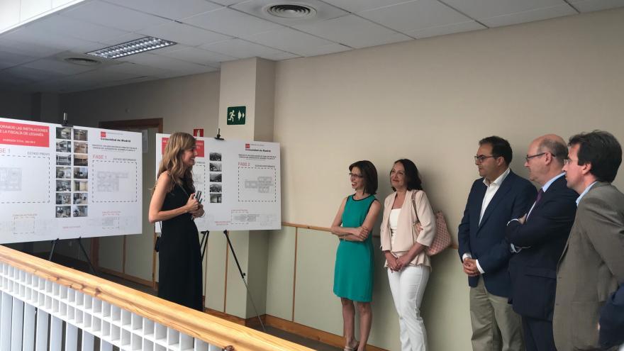 Ibarrola visita la sede judicial de la localidad, en la que se van a invertir más de 266.335 euros en dos años