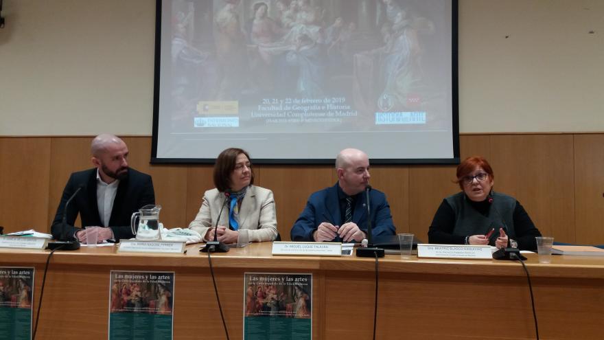 El consejero de Cultura, Turismo y Deportes, Jaime de los Santos, en la inauguración del II Seminario Internacional 'Las Mujeres y las Artes en la Corte española de la Edad Moderna'