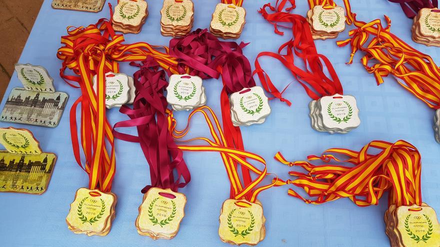 Medallas de la carrera de la VIII Olimpiada entre Centros de Menores Infractores