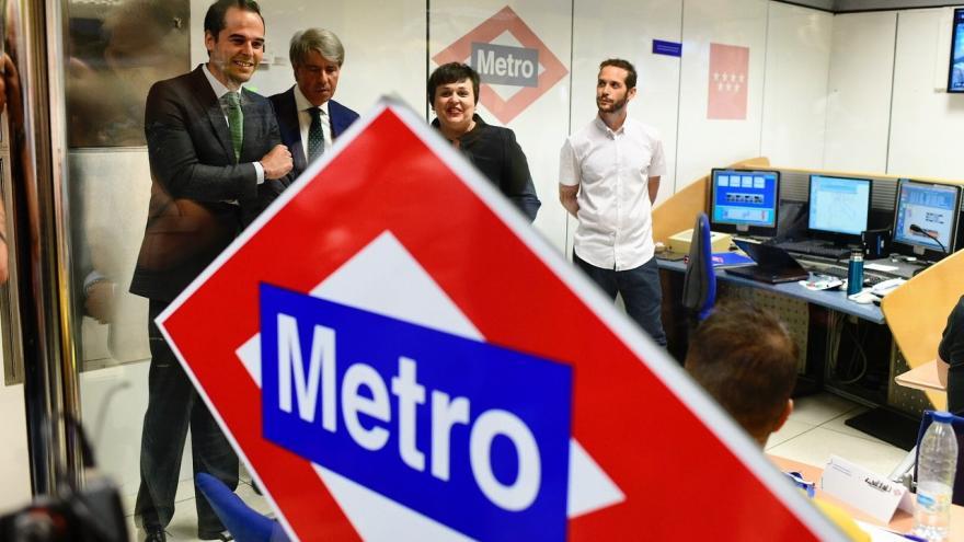 Imagen de Ignacio Aguado y Ángel Garrido en Metro Madrid