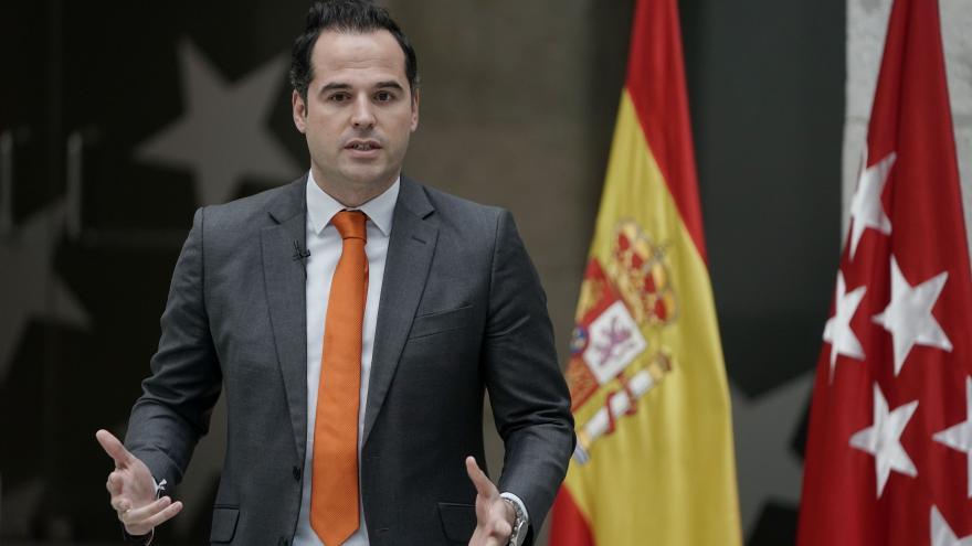 Ignacio Aguado, en rueda de prensa