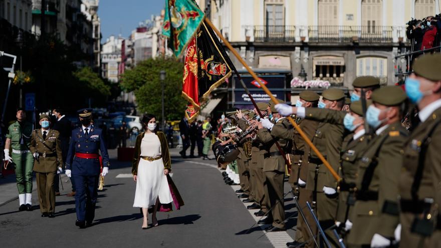 Díaz Ayuso asiste al acto cívico-militar de homenaje a los Héroes del 2 de Mayo.