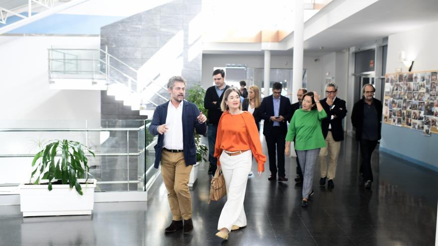 Marta Rivera visita la ECAM