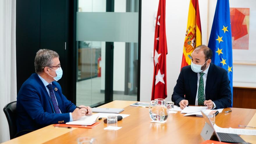 Manuel Giménez se ha reunido con el presidente de la FMM, Guillermo Hita