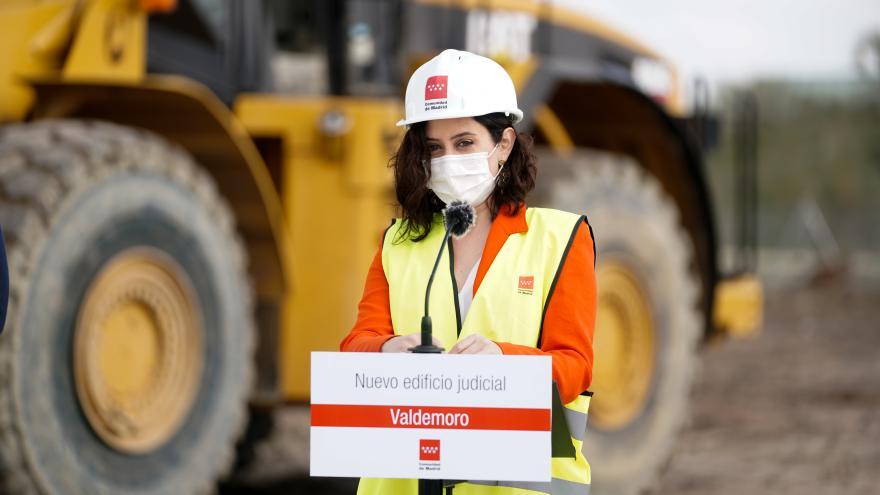 Isabel Díaz Ayuso, en el inicio de las obras del nuevo Palacio de Justicia de Valdemoro