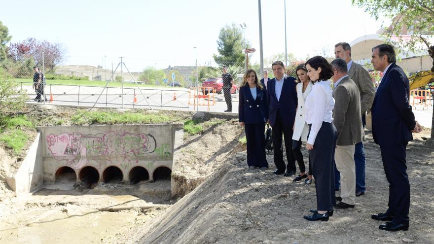 Díaz Ayuso durante la visita a Arganda