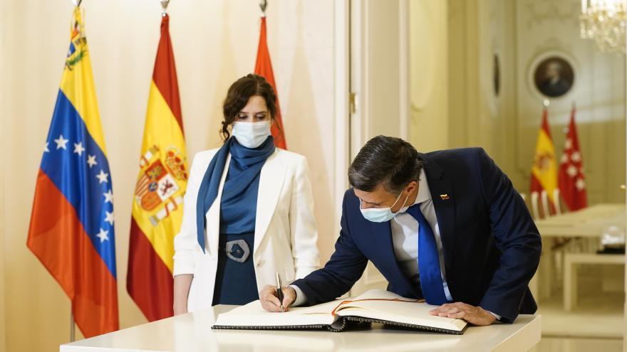 Reunión de Isabel Díaz Ayuso con Leopoldo López