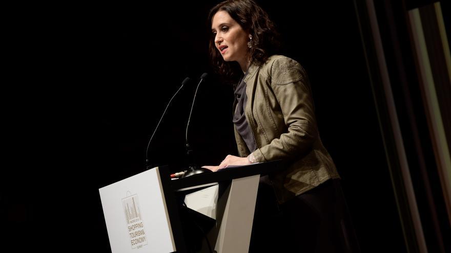Isabel Díaz Ayuso durante su exposición