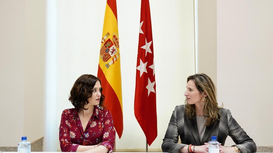 Isabel Díaz Ayuso durante la reunión