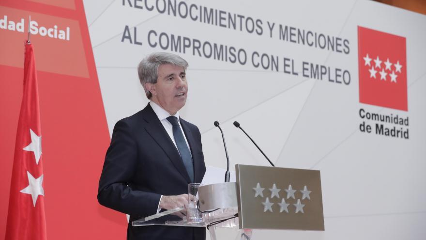 Ángel Garrido en la entrega de los I Premios a la Responsabilidad Social en el ámbito del empleo