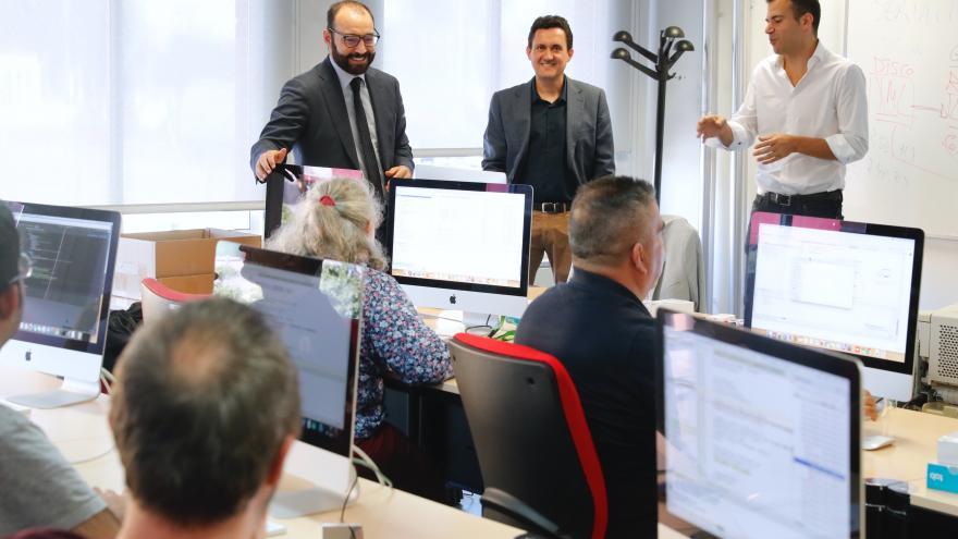 Giménez visita el Centro de Formación Profesional para el Empleo en Tecnologías de la Información y las Comunicaciones