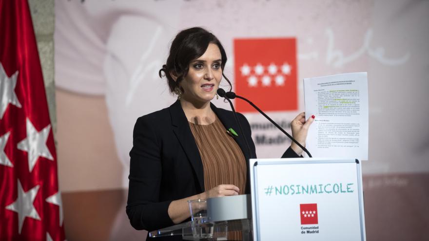 """Díaz Ayuso respalda a las familias de Educación Especial y afirma que la nueva ley educativa """"está construida sobre una falsa inclusión"""""""