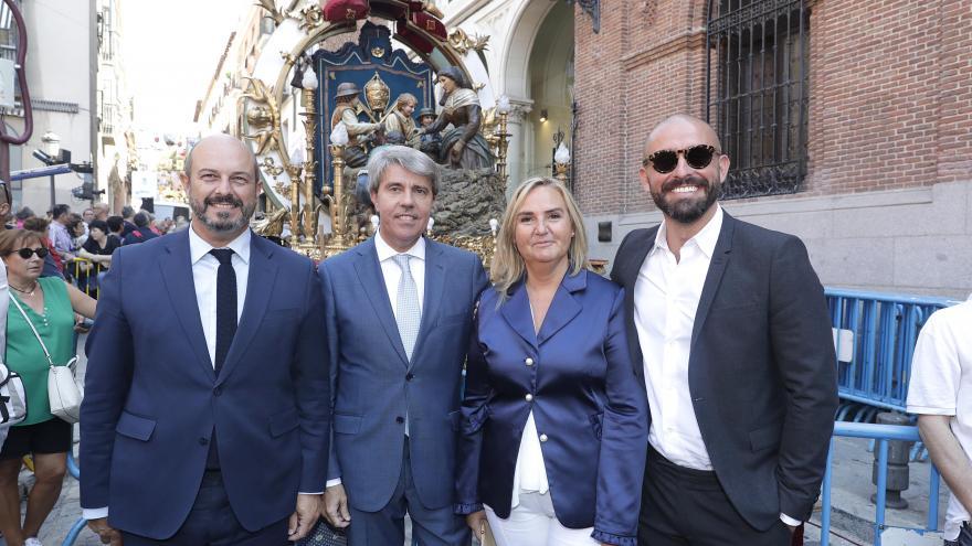 Garrido, Rollán, Gonzalo y de los Santos han asistido a los actos conmemorativos de la festividad de la Virgen de la Paloma