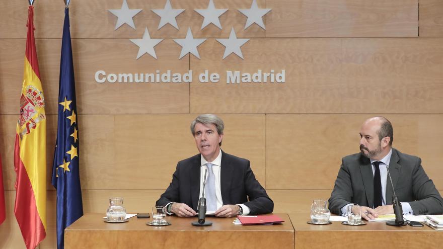Ángel Garrido durante la rueda de prensa