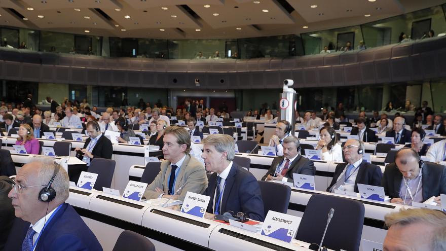 El presidente madrileño ha participado hoy en el Debate sobre el estado de la Unión que se celebra en Bruselas